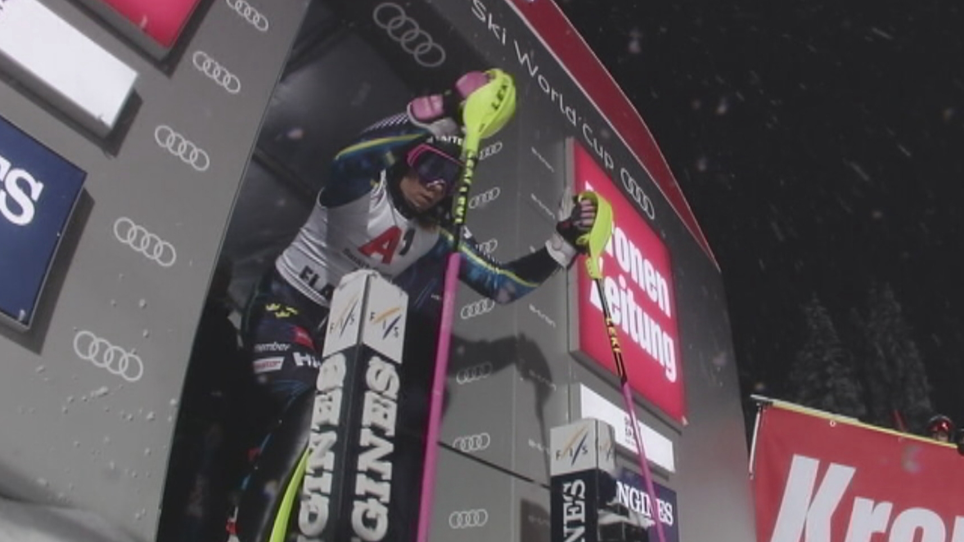 Frida Hansdotter, en av de svenska deltagarna i alpina VM i Åre. Foto: SVT/FIS