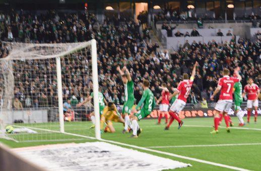 """Hammarbys Nikola """"Niko"""" Djurdjićs mål i förlängning dömdes bort p g a offside. Foto:TobiasDahlén/SwedenPhotoPassionAB"""