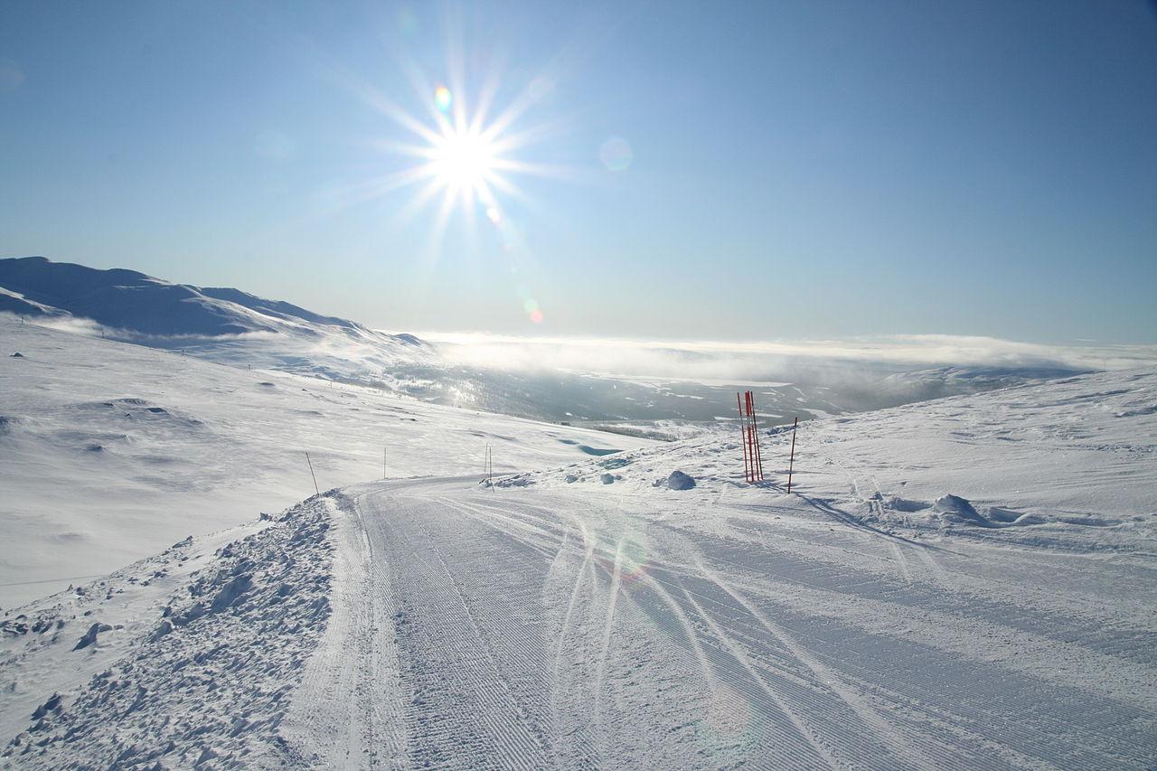 Hemavan på vintern. Foto: Magnus Bäck