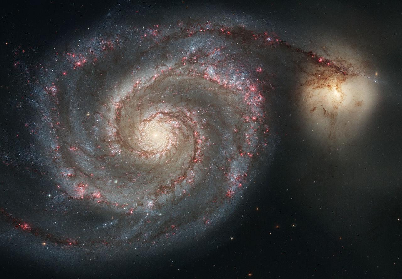 Spiralgalax. Foto: NASA och European Space Agency