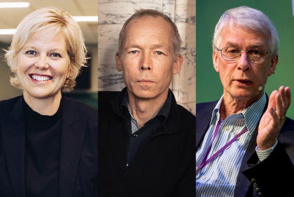 Anna Sjöström Douagi, Johan Rockström och Richard J. Roberts. (foto: Clément Morin/Jacob Bengtsson/Alexander Mahmoud)