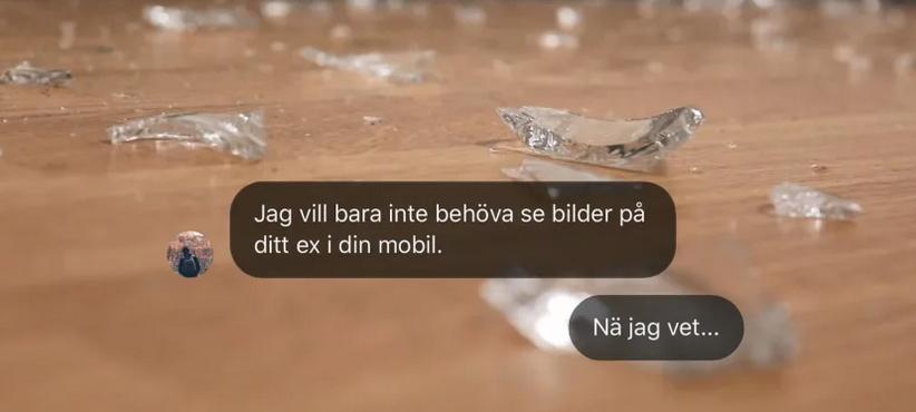 Glasskärvor på ett golv. Foto: Länsstyrelsen i Dalarnas län